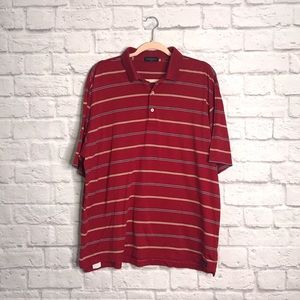 PETER MILLAR | Red Striped Golf Polo R352